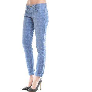 Current/Elliott Roller Skinny Jeans Navy Bandana
